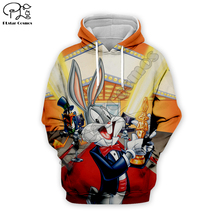 women Men Cartoon Bugs Bunny 3d hoodie Sweatshirt zipper looney tunes print unisex casual Pullover autumn jacket tracksuit shirt