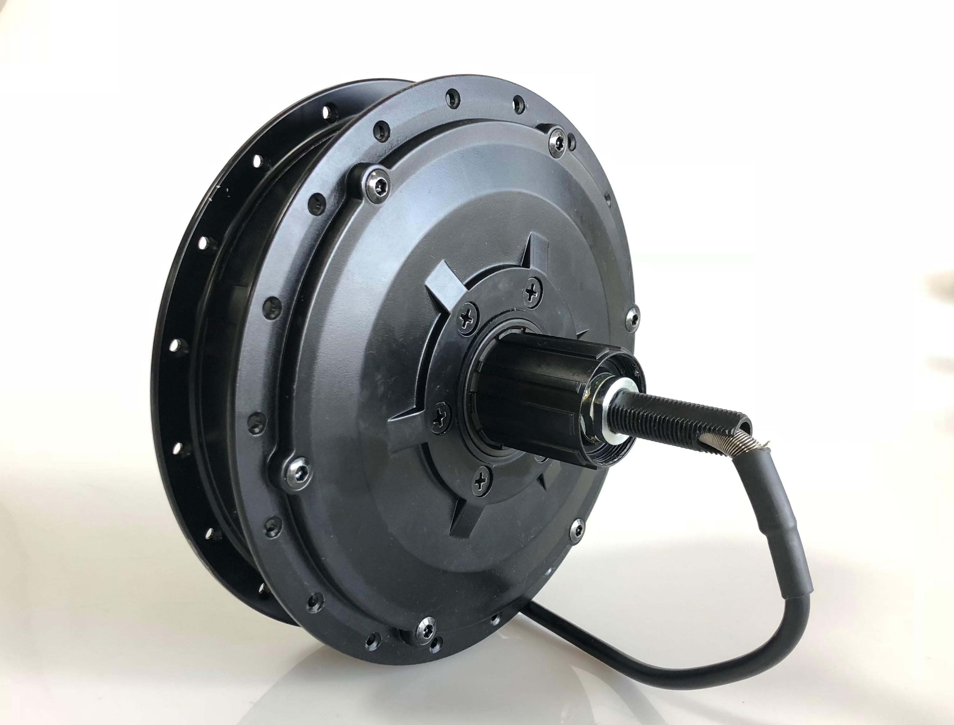 Bafang RM G040.500.DC geared hub motor 500W electric bike CST motor cassette rear drive disc brake black