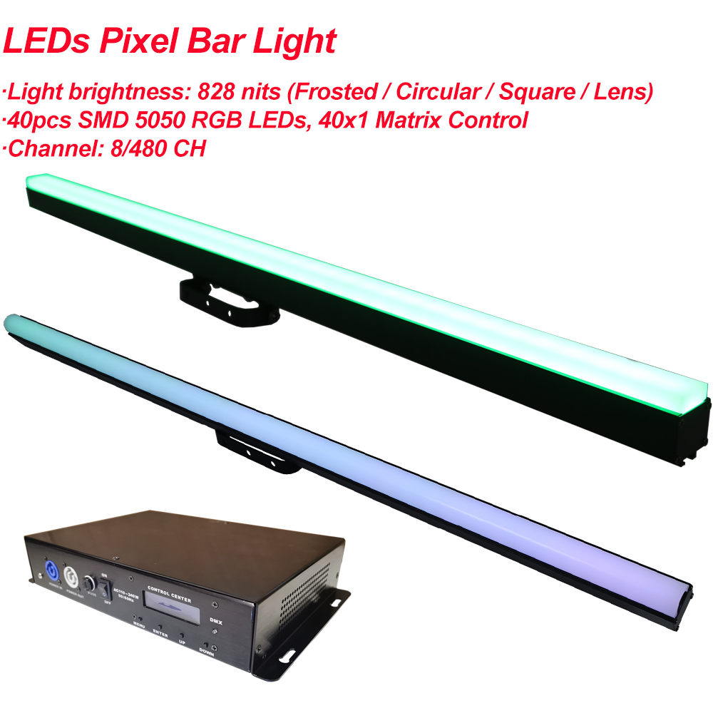 LED Bar Light RGB 3IN1 40X0.5W Digital Tube Pixel Rigid Strip Dmx 512 IC Control Color Addressable Stage DJ Bar Party Lights
