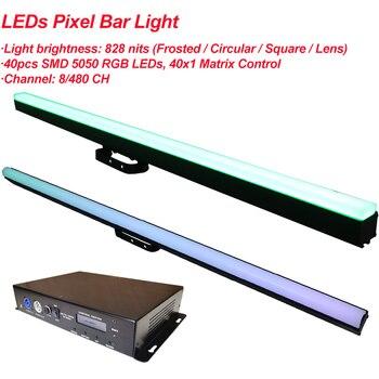 LED Bar Light RGB 3IN1 40X0.5W Digital Tube Pixel Rigid Strip Dmx 512 IC Control Color Addressable Stage DJ Bar Party Lights