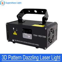 Professional DJ Laser Show 3D Three-Dimensional Pattern Dazzling Laser Light Stage Effect Lighting for Disco Party Show cheap BCL YAN Stage Lighting Effect DMX Stage Light LL3D-350 90-240V Professional Stage DJ red 200mw green 150mw 3D effect