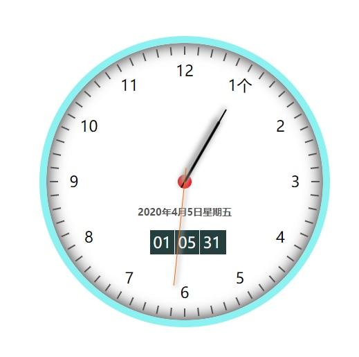 时钟源码来自于源码之家