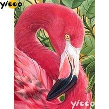 Алмазная живопись с красным фламинго картина квадратной/круглой