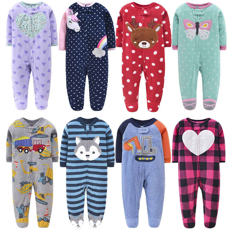 Orangemom Christmas Spring Autumn Baby Clothing Newborn Soft Fleece Rompers 0-24m Infant Jumpsuit Baby Cartoon Costumes Pajamas   Happy Baby Mama