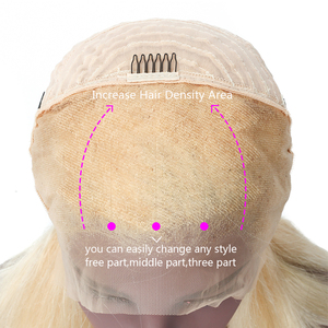 Image 5 - Bestsojoy 613  Blonde Lace Front Wig Brazilian Remy Human Hair Wigs for Black Women Straight 13x4  Transparent Lace Wig