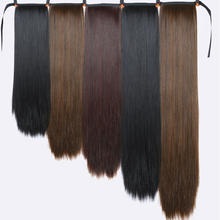 Xnaira Fake Hair Pieces 18-38 Inch Afro Long Straight Drawstring Ponytail Synthetic Hair Bun Pony Tail Clip In Hair Extensions(China)
