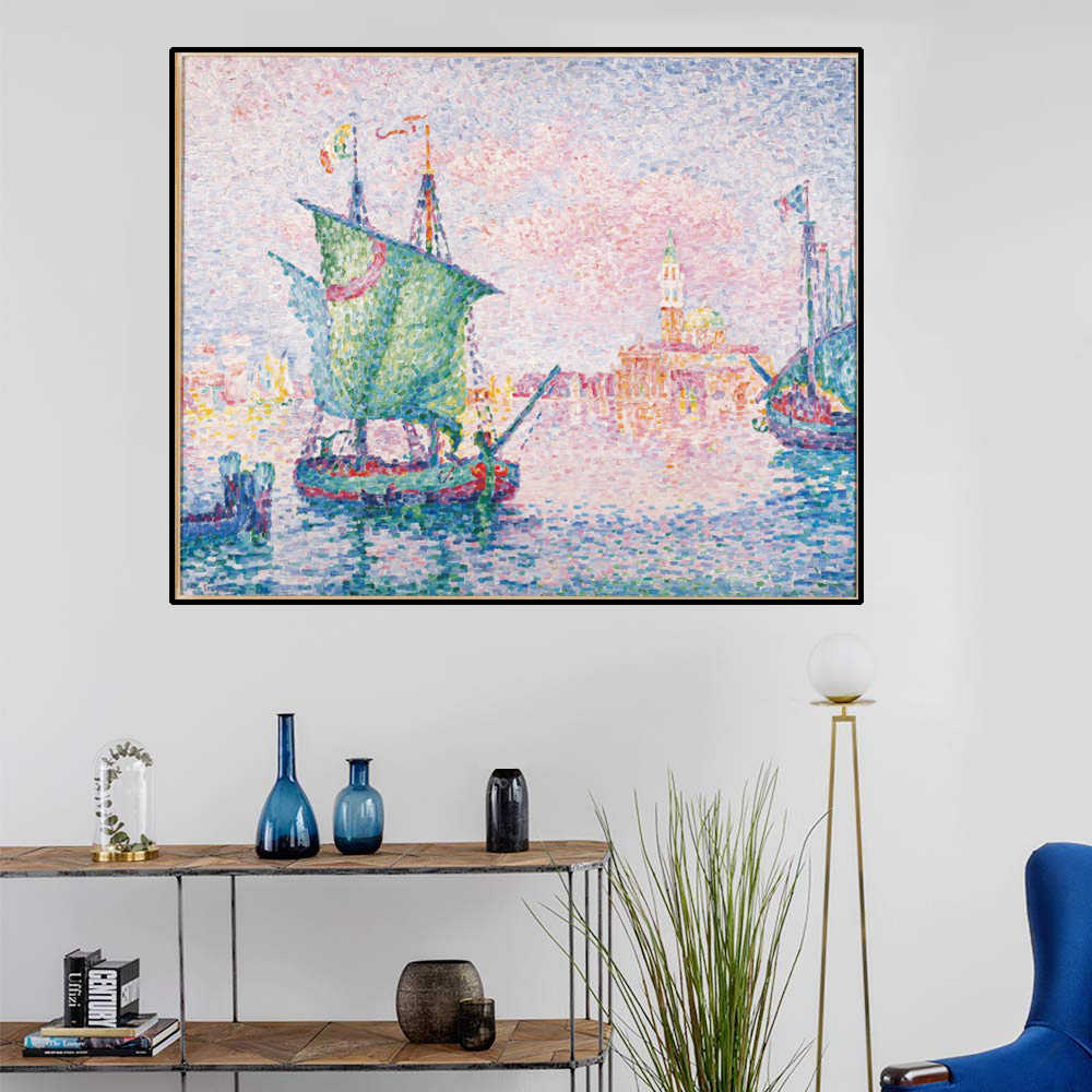 Cassisy Paul Signac Venice The Pink Cloud Canvas Painting Calligraphy Poster Printed Living Room Decor Life Wall Art No Framed Painting Calligraphy Aliexpress