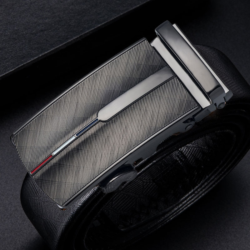 Dropship Brand Designer Business Leather Belt Automatic Buckles For Men Gun Metal Color Replacement Ratchet Buckles Without Belt