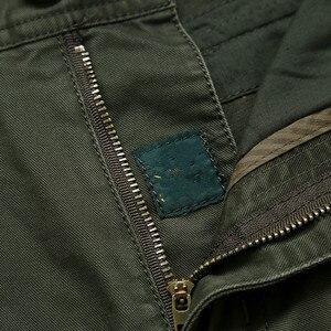 Image 5 - Nuovi Pantaloni Cargo Degli Uomini Multi tasche Pantaloni Larghi Pantaloni Da Uomo Militare Casual Tute E Salopette Army Pantaloni Pantaloni Pantaloni Più Il Formato 40 42 44 di cotone