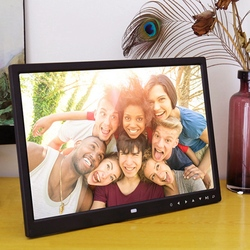 AMS-15.4 Inch Digital Photo Frame Press Button Electronic Photo Album Full Format 1080P Wall Hanging Display Advertising Machine
