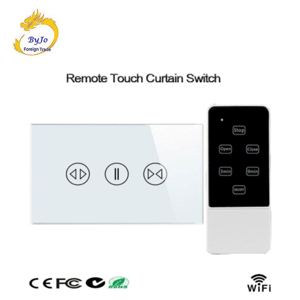 Verre cristal Wifi télécommande tactile rideau commutateur intelligent maison mur commutateurs tactiles