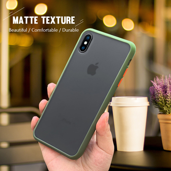 Shockproof Matte Phone Case for iPhone 12 Pro Max 11 Mini XR XS Max 7 8 6S Plus Solid Color Clear Transparent Back Cover Logo image
