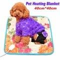 40*40 см 18 Вт электрическая грелка для собак и кошек  регулируемая температура  одеяло для домашних животных  коврик с подогревом для кролика  ...