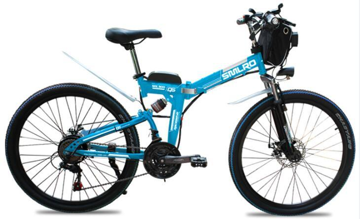 26 Inch 750W/1000W High Power Folding Mountain CityE bike with 10Ah/13Ah Lithium Battery Electric Bicycle Carbon Steel 2