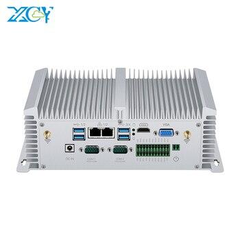 팬리스 산업용 미니 PC Inte Core i5 8250U i7 7500U 2 * RS232/422/485 8 * USB 2 * LAN HDMI VGA GPIO 2 * DDR4 4G LTE WiFi Windows 10