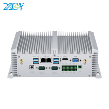 Fanless Mini PC Industriale Inter Core i5 8250U i7 7500U 2 * RS232/422/485 8 * USB 2 * LAN HDMI VGA GPIO 2 * DDR4 4G LTE WiFi Finestre 10