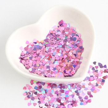 Eco-friendly PET 3mm Ultrathin Heart Nail Sequin Mixed Holographic Laser Silver Glitter Sequins for Craft Nail Art Decoration 8g image