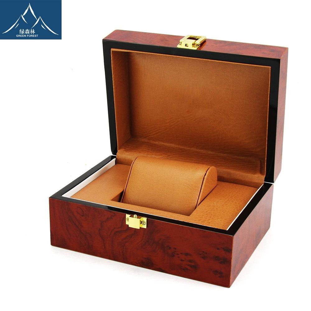 High-End Wooden Watch Box High Light Exquisite Baking Varnish Watch Box Top Grade Jewellery Box Customizable