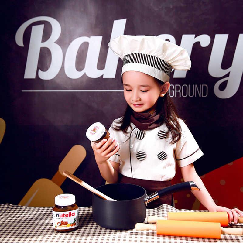 Gotuj Cosplay kostiumy dla dzieci Fancy Party dla dzieci fartuch szefa kuchni Cap kuchnia kelnerka jednolite dzieci Food Service restauracja odzież zestaw