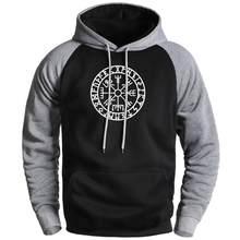 Viking Kompass Mode Fleece Hoodies Herren Sweatshirts 2020 Männlichen Winter Gegangen zu Valhalla Raglan Hoodies Sportswear Männlichen Hoody