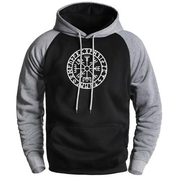 Viking Compass Fashion Fleece Hoodies Mens Sweatshirts 2020 Male Winter Gone to Valhalla Raglan Hoodies Sportswear Male Hoody кий пул 2 pc viking valhalla 003