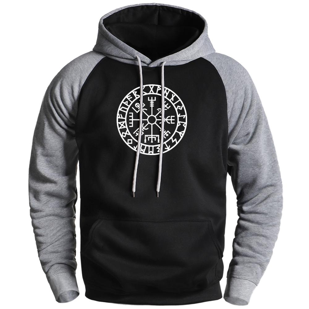 Viking Compass Sons Of Anarchy Hoodies Mens Sweatshirts 2020 Male Winter Gone To Valhalla Raglan Hoodies Sportswear Male Hoody