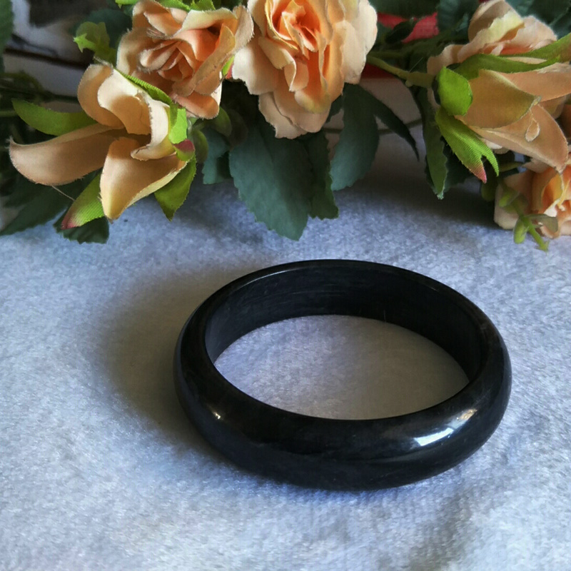 Wholesale High Quality Natural Jade Bangles Grade A Pure Natural Stone Black And White Bracelet  Jade Jewelry