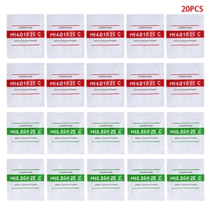 20 Pcs PH Buffer Solution Powder PH For Test Meter Measure Calibration 4.01 6.86
