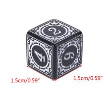 10Pcs D6 Polyhedral Dice Square Edged Numbers 6 Sided Dices Beads Table Board 652D