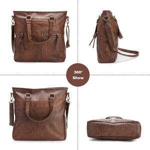 Image 3 - Sac fourre tout Vintage pour femmes, sac pour ordinateur portable de bureau, sacoche à bandoulière de marque, décontracté
