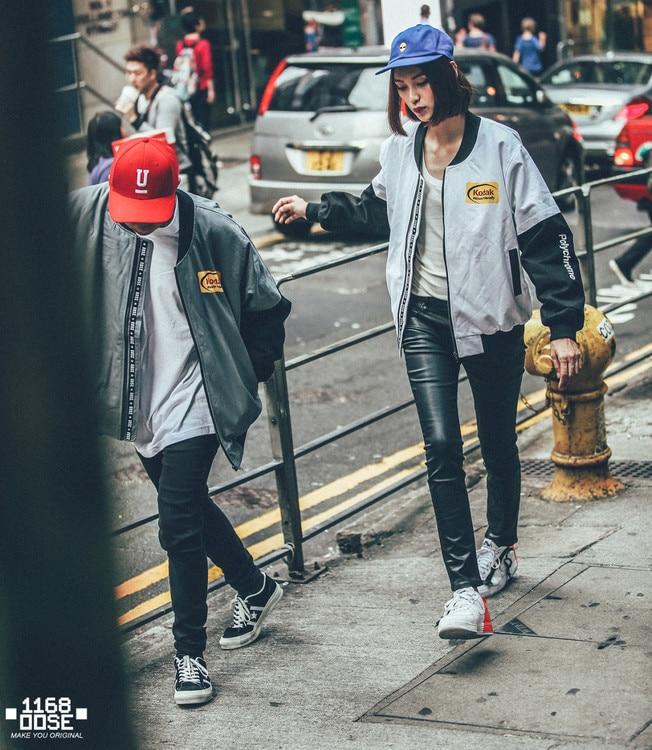 Free Shipping Japanese Hip Hop Style MA1 Bomber Jacket Harajuku Pilot Streetwear Printing Kodak Jackets Men Women Coat Clothing