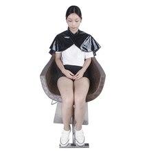 Крючок и петля Блокировка ПВХ салон волос фартук зеркальная поверхность Гладкий нагрудник платье Cappa воротник парикмахерский стиль обертывания шаль