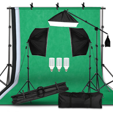Professional Photography Lighting Equipment Kit with Softbox Soft background stand with boom arm Backdrops Light Photo Studio