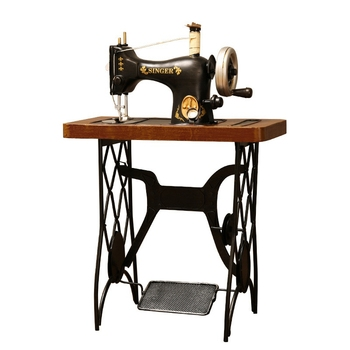 Vintage Iron Sewing Machine Model Clothing Shop Window Ornaments Old Object Decoration Creative Crafts