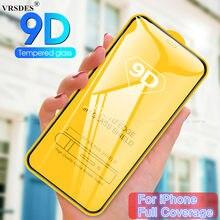 9D Volle Abdeckung Glas auf die Für iPhone X XR XS Max SE 2020 Gehärtetem Glas Für iPhone 7 8 6 6S Plus 5S 11 Pro Max Screen Protector