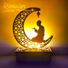 Ramadan Decorations for Home DIY Wooden LED Night Light happy Ramadan Kareem EID Mubarak