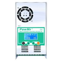 Powmr Mppt 60A Solar Charge And Discharge Controller 12V 24V 36V 48V Auto For Max 190Vdc Pv Input Vented Sealed Gel Nicd Li