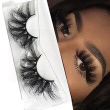 1 par 25mm 3d falso cils 100% vison cabelo cílios postiços dramtic grosso wispies macio cílios extensão maquiagem maquillage femme