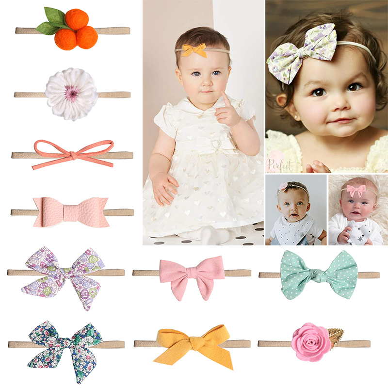 Baby Headband Bow For Girls Rabbit Ear Baby Bows Headband Baby Turban Hair Accessories Newborn Infant Girl Headband
