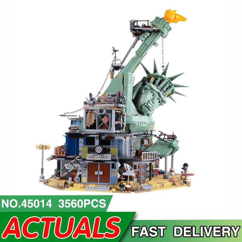 45014 LegoEDS Movie Series ยินดีต้อนรับสู่ APOCALYPSEBURG 70840 ชุดบล็อกอาคารเด็กอิฐประกอบของเล่นเพื่อการศึกษาของขวัญ-ใน บล็อก จาก ของเล่นและงานอดิเรก บน   1