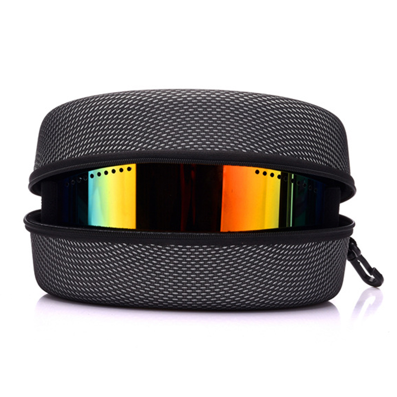 EVA Snow Ski Eyewear Case Snowboard Skiing Goggles Sunglasses Carrying Case Zipper Hard Box Holder(Without Goggles)