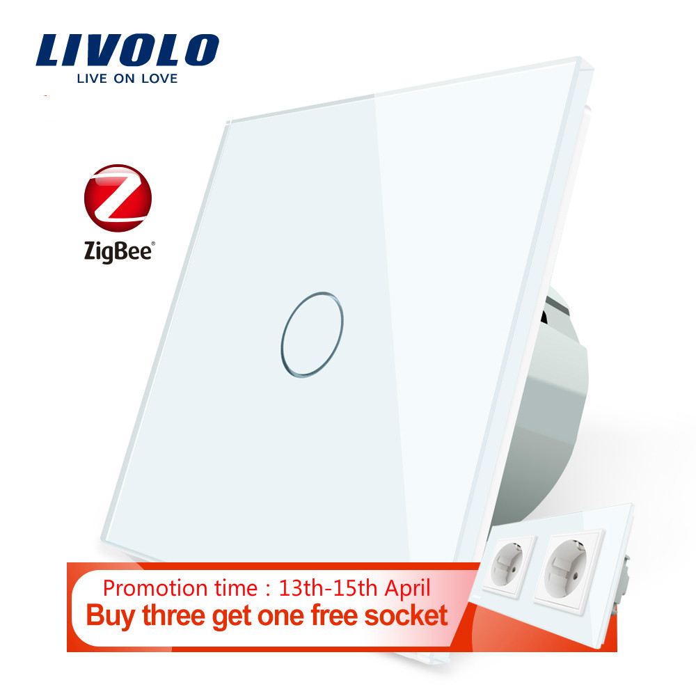 Livolo EU Standard Zigbee Home Wall Touch smart switches Touch WiFi APP Control google home control  Alexa  echo control|Switches| |  - title=