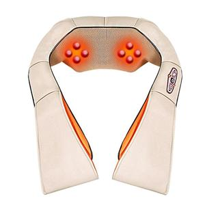 Image 2 - Electrical Heating Shiatsu Back Neck Massager Shoulder Body Massager Infrared Heated Kneading Car/Home Massagem Relax