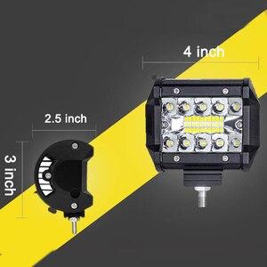 Image 5 - Led Licht Bar 4 Inch 60W Led arbeitslicht Bar Combo Offroad 4x4 Nebel Licht Fahr Licht lampe für Lkw 12V Scheinwerfer für Boot