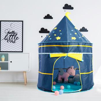 Namiot dziecięcy zagraj w zabawkowy domek dla dzieci namiot zamek księżniczki kryty odkryty zabawki dla dzieci do zabawy w dom dzieci składany namiot świąteczny prezent tanie i dobre opinie Poliester Keep Far Away From Fire 0-12 miesięcy 13-24 miesięcy 2-4 lat 5-7 lat 6 lat 8 lat 3 lat 3 lat JXM-604