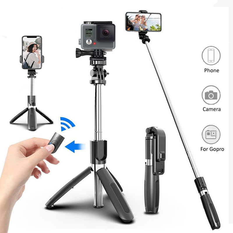 Wireless Bluetooth Selfie Stick Tripod Foldable Tripod Monopods Universal for SmartPhones for Gopro Sports Action Camera 1