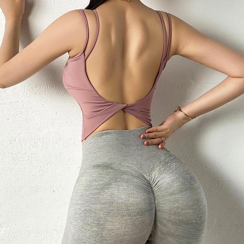 Women Sexy U Shape Sport Bra, Breathable Running Crop Top Sport9s