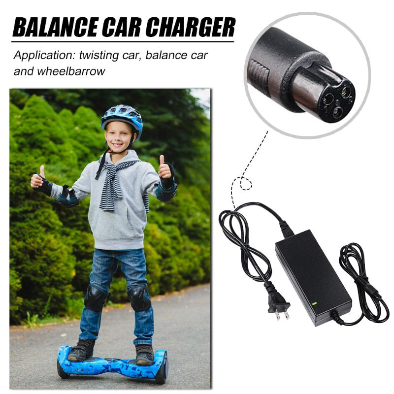 Walking Car Scooter Charger Compact And Portable Carry Convenient Wheelbarrow Balance Car Power Adapter 42V 2A US Plug