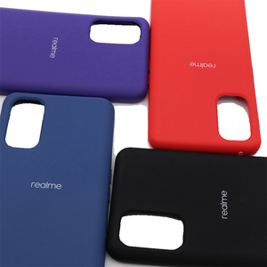 Image 4 - Realme 7 7プロケース耐震バンパーケース液状シリコーン電話ケースoppo realme 7 realmy realmi 7pro realme 7 7プロ