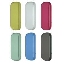 Capa protetora de silicone para iqos 3.0, capa colorida para transporte de cigarro e cigarros